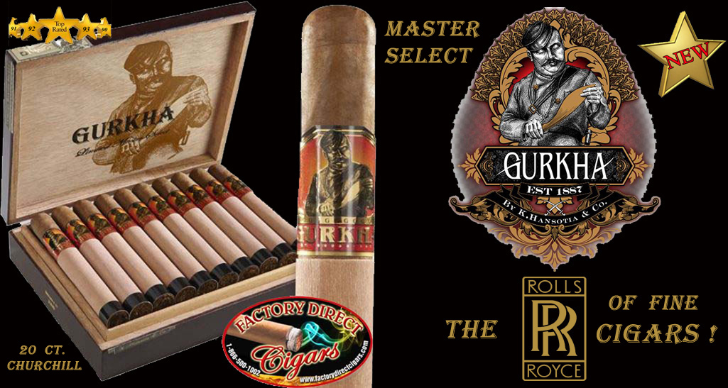 Gurkha Cigars..'Master Select'..Churchill